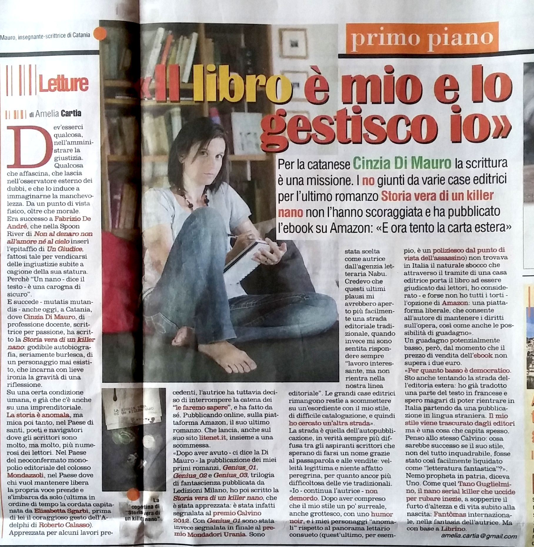recensione dei romanzi di Cinzia Di Mauro