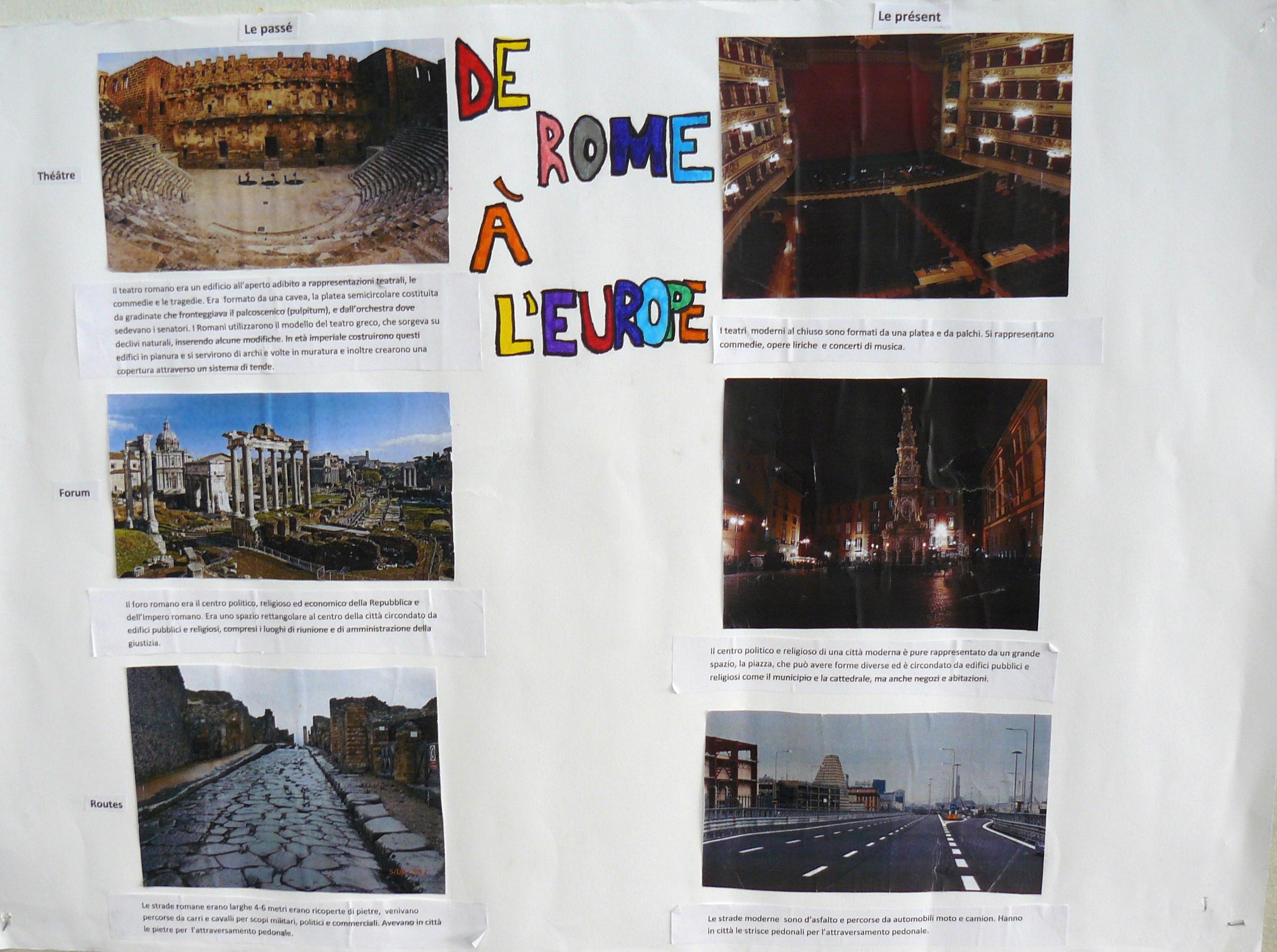 De Rome à l'Europe - oeuvres publiques